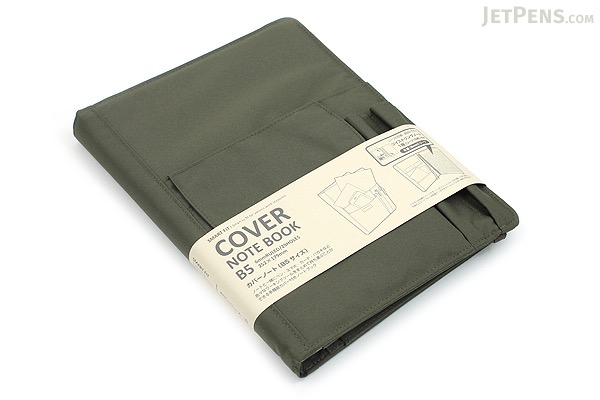 Lihit Lab Smart Fit Cover Notebook - B5 - Olive - LIHIT LAB N-1627-22