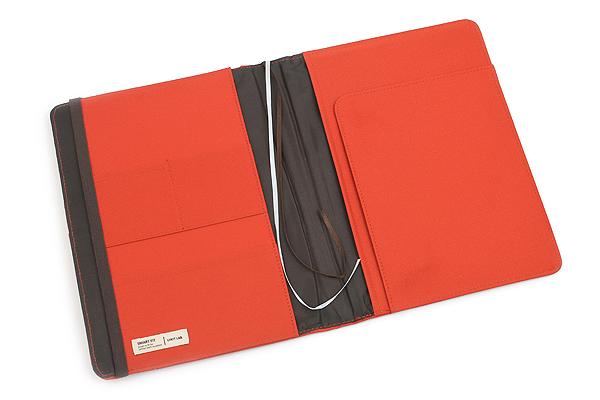 Lihit Lab Smart Fit Cover Notebook - B5 - Orange - LIHIT LAB N-1627-4
