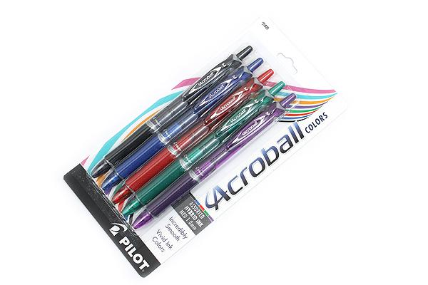 Pilot Acroball Ballpoint Pen - 1.0 mm - 5 Color Set - PILOT 31820