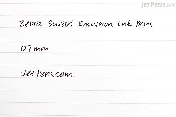 Zebra Surari Emulsion Ink Pen - 0.7 mm -  Candy Pop Color - Cherry Red Body - Limited Edition - ZEBRA BN11-CR