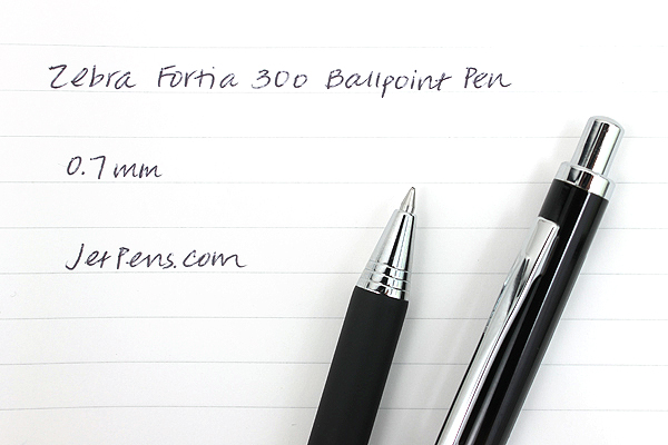 Zebra Fortia 300 Ballpoint Pen - 0.7 mm - Black Body - ZEBRA BA80-BK