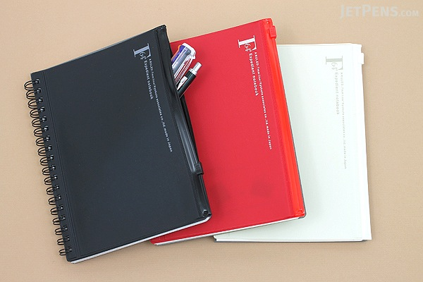 Kyokuto F.O.B COOP W Ring Notebook with Pocket - B6 - 7 mm Rule - Red - KYOKUTO PT239R