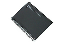 Kyokuto F.O.B COOP W Ring Notebook with Pocket - B6 - 7 mm Rule - Black - KYOKUTO PT239K