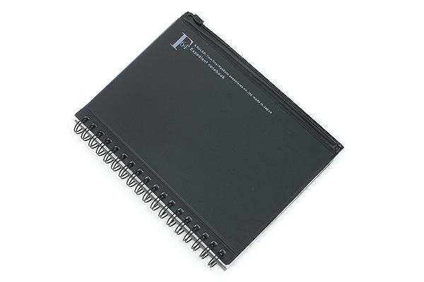 Kyokuto F.O.B COOP W Ring Notebook with Pocket - B6 - 7 mm Rule - Black - KYOKUTO PT239K