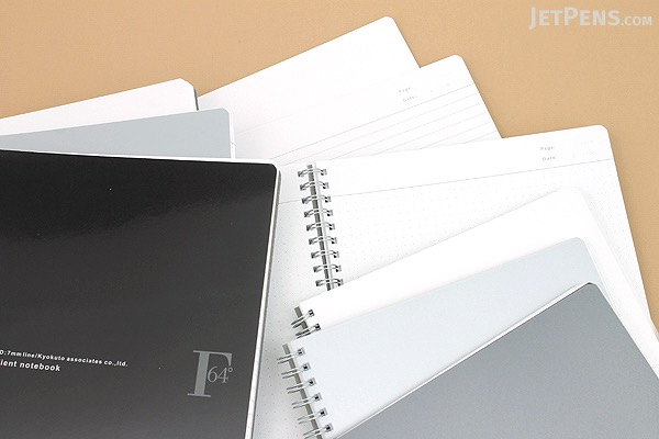 Kyokuto F.O.B COOP W Ring Expedient Notebook - B5 - 7 mm Rule - Black - KYOKUTO PTA03K