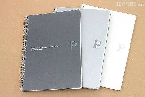 Kyokuto F.O.B COOP W Ring Notebook - B5 - Dot Grid - Silver - KYOKUTO PTD03SV
