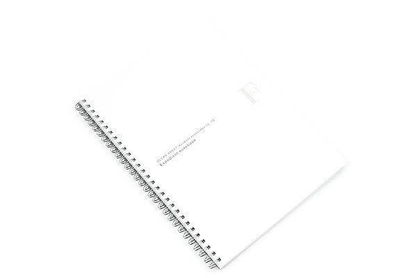 Kyokuto F.O.B COOP W Ring Notebook - B5 - Plain - White - KYOKUTO PTW03W
