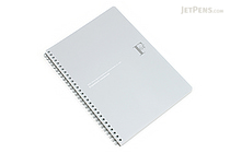 Kyokuto F.O.B COOP W Ring Expedient Notebook - B5 - Dot Grid - Silver - KYOKUTO PTD03SV