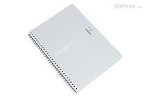 Kyokuto F.O.B COOP W Ring Expedient Notebook - B5 - Dot Grid - Silver - KYOKUTO PTD03SV