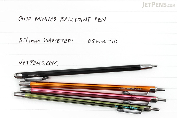 Ohto Minimo Ballpoint Pen with Holder - 0.5 mm - Pink - OHTO NBP-505MN-PK
