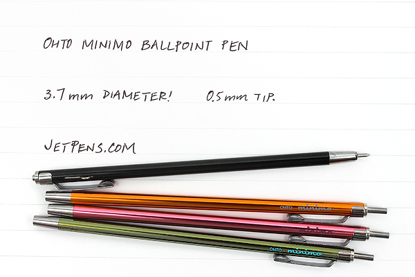 Ohto Minimo Ballpoint Pen with Holder - 0.5 mm - Green - OHTO NBP-505MN-GN