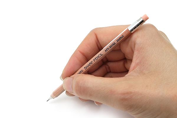 Ohto Wooden Mechanical Pencil Mini - 0.5 mm - Natural - OHTO APS-280ES-NT