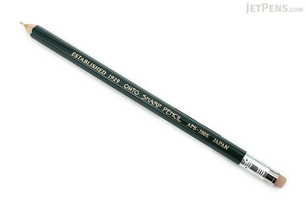 Ohto Wooden Mechanical Pencil - 0.5 mm - Green - OHTO APS-280E-GREEN
