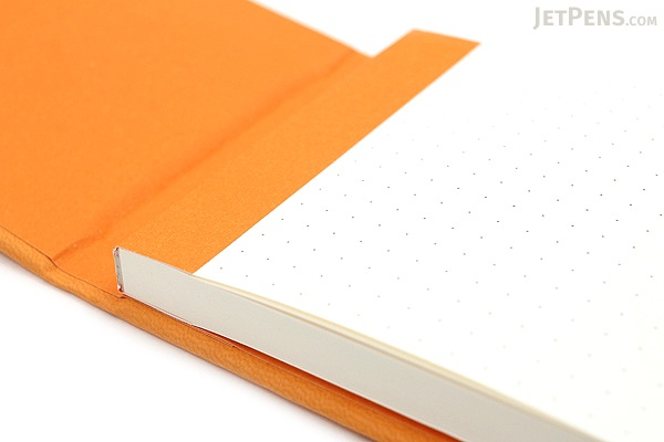 "Rhodia Webnotepad - 3.5"" x 5.5"" - Dot Grid - Orange - RHODIA 118338"