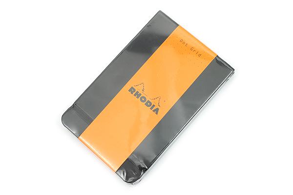 """Rhodia Webnotepad - 3.5"""" x 5.5"""" - Dot Grid - Black - RHODIA 118339"""