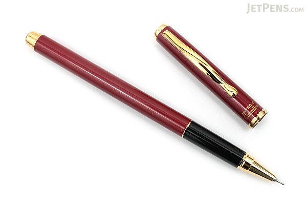 Pilot Hi-Tec-C Cavalier Gel Ink Pen - 0.4 mm - Gold Accents - Red Body - PILOT LCA-2SRC4-R