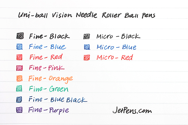Uni-ball Vision Needle Rollerball Pen - Fine Point - Blue - UNI-BALL 1734904