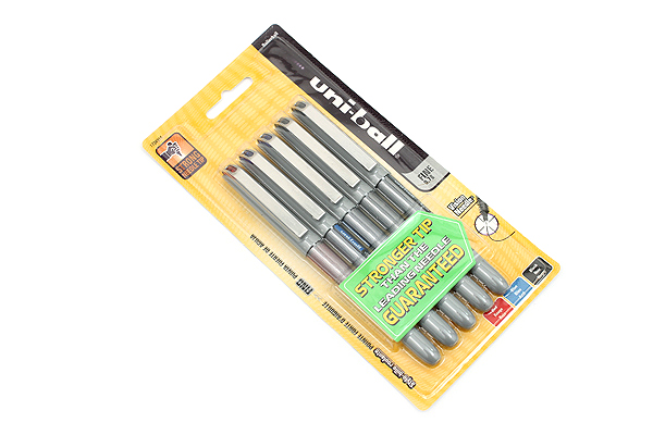 Uni-ball Vision Needle Rollerball Pen - Fine Point - 5 Pen Set - UNI-BALL 1734914