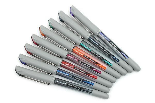 Uni-ball Vision Needle Rollerball Pen - Fine Point - 8 Color Set - UNI-BALL 1734916