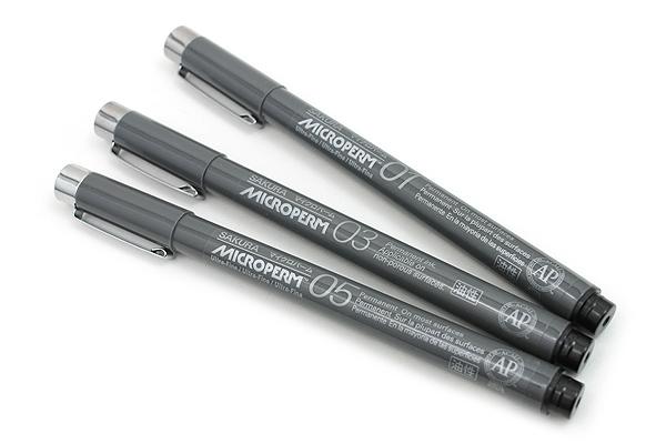 Sakura Microperm Pen 01 - 0.25 mm - Black - SAKURA 34081