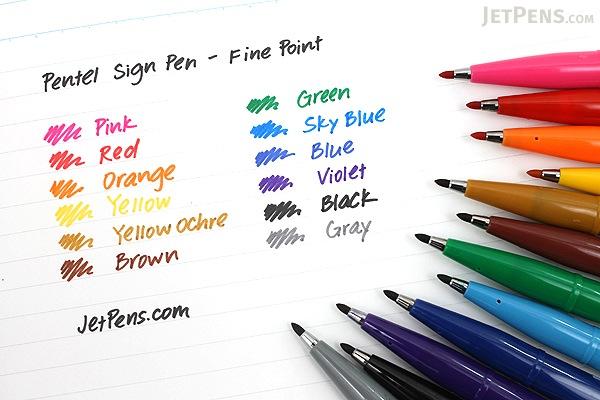 Pentel Sign Pen - Fine Point - Black - PENTEL S520-A