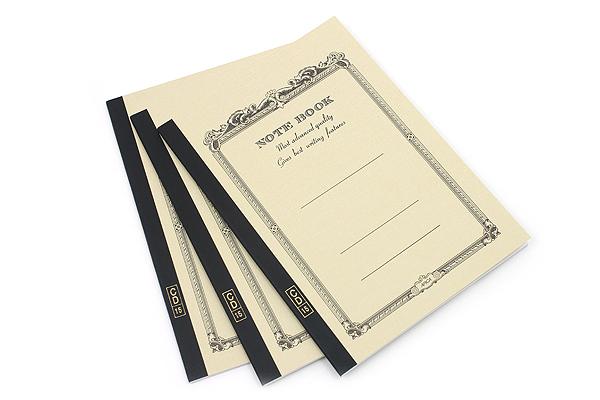 Apica CD Notebook - CD15 - Semi B5 - 6.5 mm Rule - Yellow - Bundle of 3 - APICA CD15YN BUNDLE