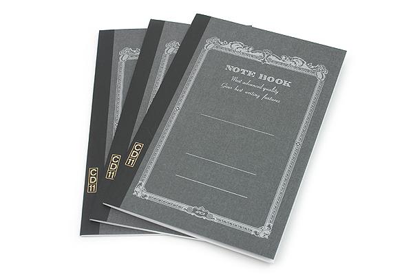Apica CD Notebook - CD11 - A5 - 7 mm Rule - Black - Bundle of 3 - APICA CD11BK BUNDLE