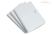 Kyokuto F.O.B COOP W Ring Notebook - B5 - Dot Grid - Silver - Bundle of 3 - KYOKUTO PTD03SV BUNDLE