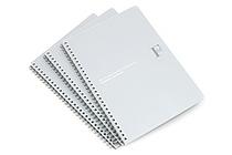 Kyokuto F.O.B COOP W Ring Notebook - B5 - Dot Grid - Silver - Bundle of 3 - KYOKUTO PTD03SV BUNDLE