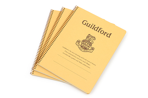 "Kyokuto Notebook - 7"" x 9"" - 6 mm Rule - Guildford - Bundle of 3 - KYOKUTO P303 BUNDLE"