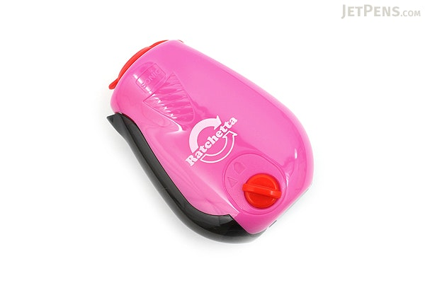 Sonic Ratchetta Pencil Sharpener with Point Adjustment - Pink - SONIC SK-812-P