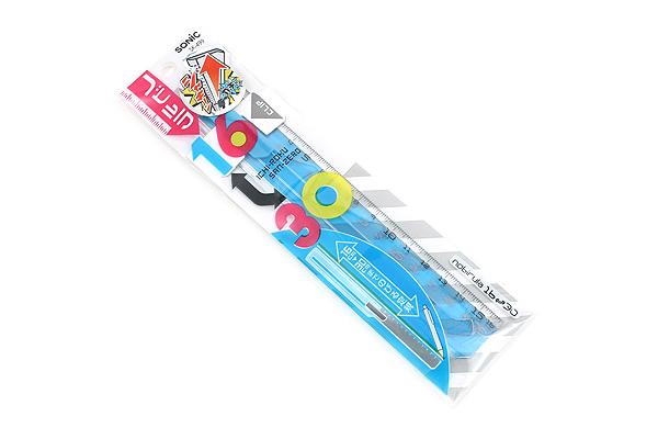 Sonic Nobirura 16<->30 cm Extendable Ruler - Clear Blue - SONIC SK-499-CB