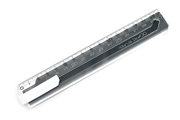 Sonic Nobirura 16<->30 cm Extendable Ruler - Clear Dark - SONIC SK-499-CD