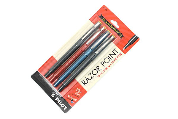 Pilot Razor Point Marker Pen - 0.3 mm - 4 Pen Set - PILOT 11045