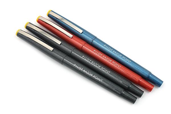 Pilot Razor Point Marker Pen - 0.3 mm - 4 Pen Set - PILOT 11045