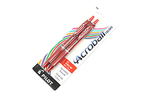 Pilot Acroball Ballpoint Pen - 1.0 mm - Red - Pack of 2 - PILOT ACCC2REDM