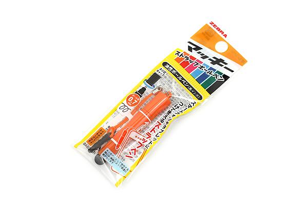 Zebra Hi-Mckee Mini Ballpoint Pen + Stylus with Strap - 0.7 mm - Orange Body - ZEBRA BA83-OR