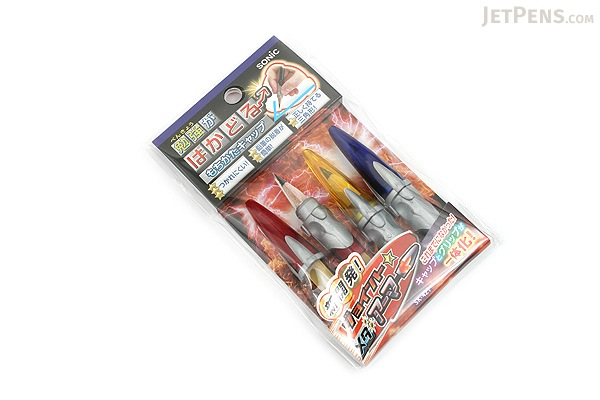 Sonic Mochikata How to Hold Pencil Cap - Pack of 3 - Joint Metallic Armor - SONIC SK-421