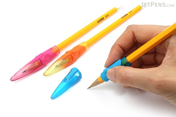 Sonic Mochikata How to Hold Pencil Cap - Pack of 3 - Jelly Pinky - SONIC SK-470