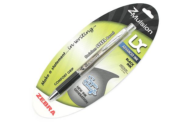 Zebra Z-Mulsion LX Emulsion Ink Pen - 1.0 mm - Black - ZEBRA 34511