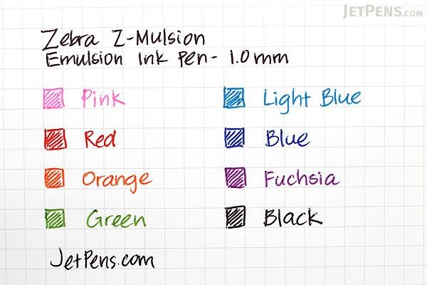 Zebra Z-Mulsion EX Emulsion Ink Pen - 1.0 mm - Black - ZEBRA 34210