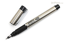 Zebra R-301 Stainless Steel Rollerball Pen with Refill - 0.7 mm - Black - ZEBRA 43511