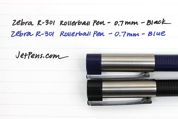 Zebra R-301 Stainless Steel Rollerball Pen with Refill - 0.7 mm - Blue - ZEBRA 43521