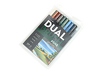 Tombow Dual Brush Pen - 10 Pen Set - Landscape - TOMBOW 56169