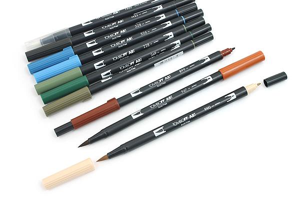 Tombow Dual Brush Pen - 10 Pen Set - Landscape - TOMBOW 56169