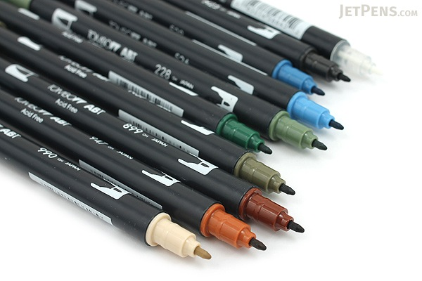 Tombow ABT Dual Brush Pen - 10 Pen Set - Landscape - TOMBOW 56169