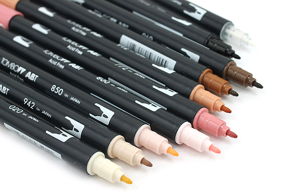 Tombow Dual Brush Pen - 10 Pen Set - Portrait - TOMBOW 56170