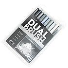 Tombow Dual Brush Pen - 10 Pen Set - Grayscale