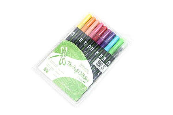 Tombow Dual Brush Pen - 10 Pen Set - Jelly Bean - TOMBOW 56156