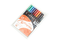 Tombow Dual Brush Pen - 10 Pen Set - Jewel - TOMBOW 56158